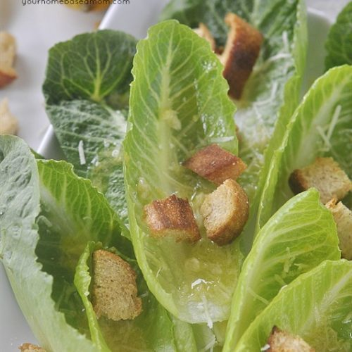Romaine Lettuce Salad with Lemon Vinaigrette