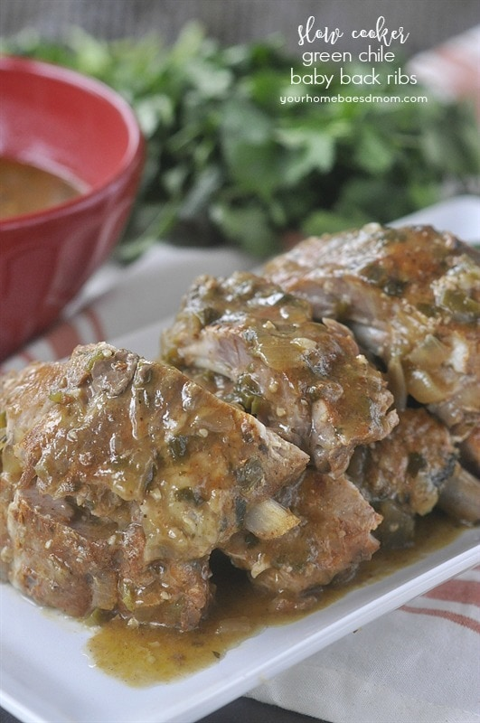 Slow Cooker Green Chile Ribs
