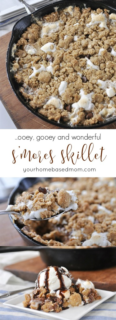 S'mores Skillet - ooey, gooey and wonderful!\
