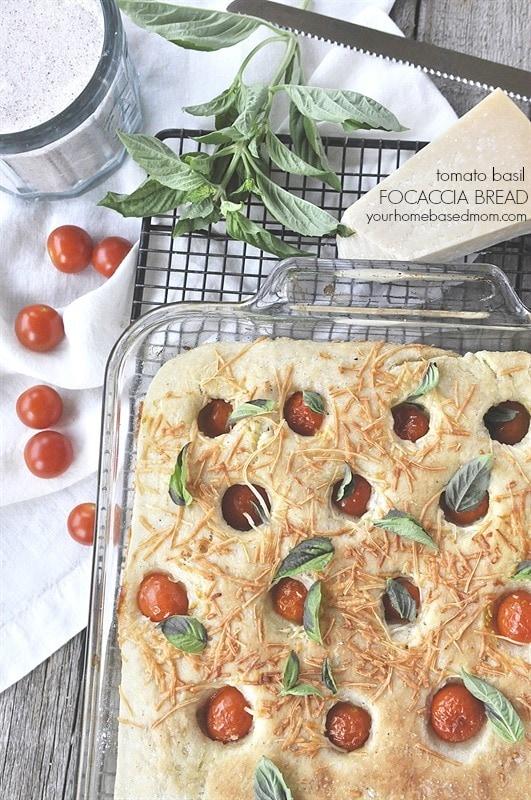 Tomato Basil Focaccia Bread