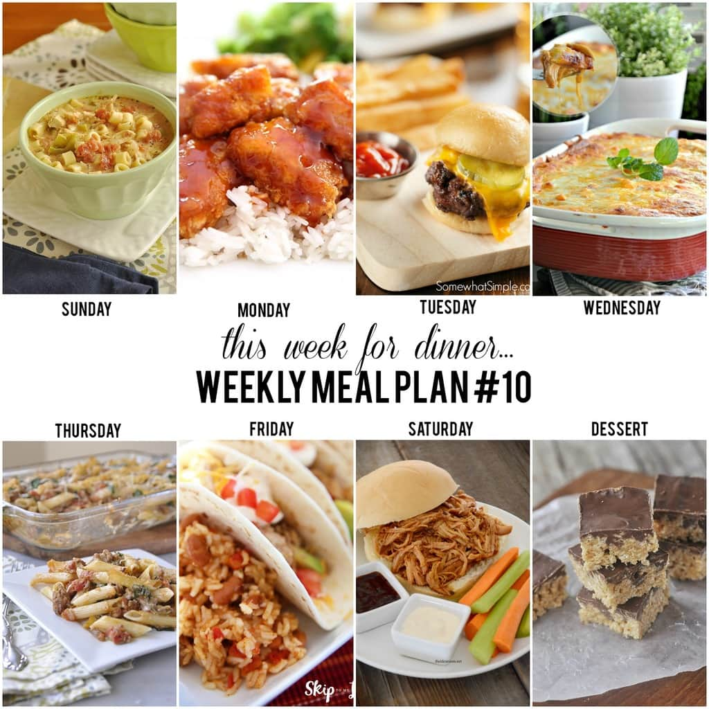 weekly meal plan week 10 the 36th avenue