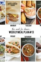 this week for dinner}Weekly meal plan #13