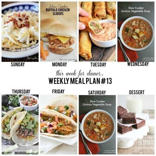 this week for dinner}Weekly meal plan #13