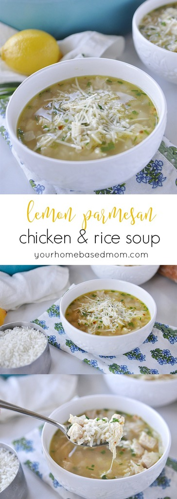 lemon chicken & rice soup with parmesan