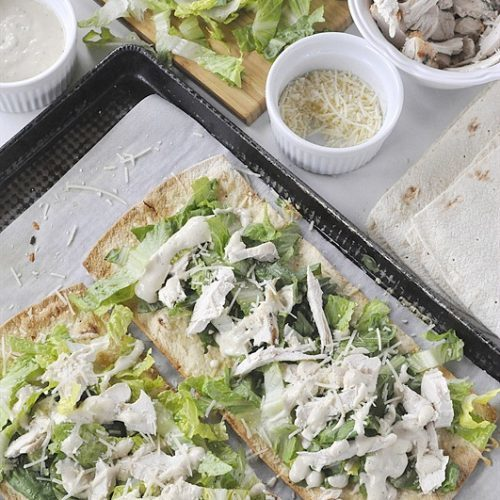 Chicken Caesar Salad Flatbread
