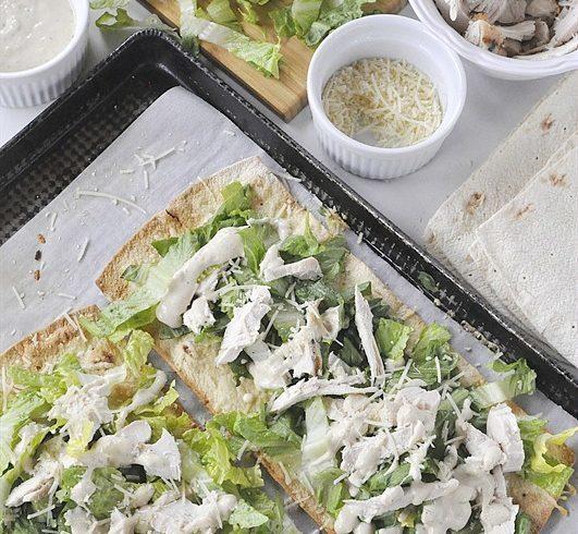 Chicken Caesar Salad Flatbread