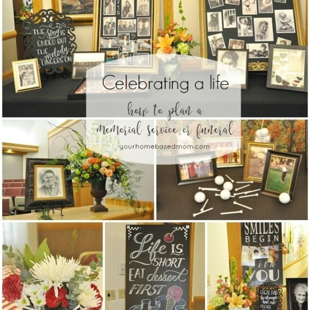 Celebrating a life}how to plan a memorial service or funeral