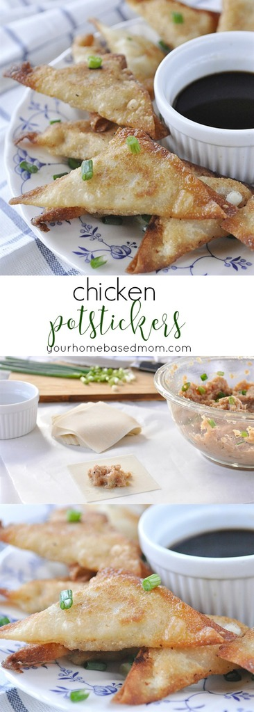 Chicken Potstickers from yourhomebasedmom.com