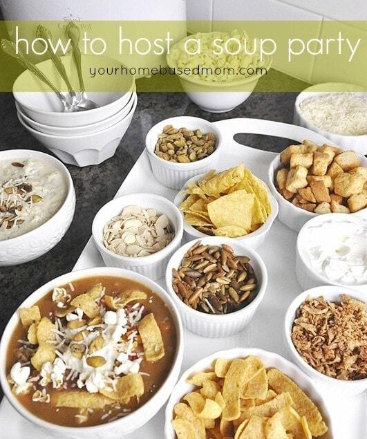 How to Host a Soup Party @yourhomebasedmom.com