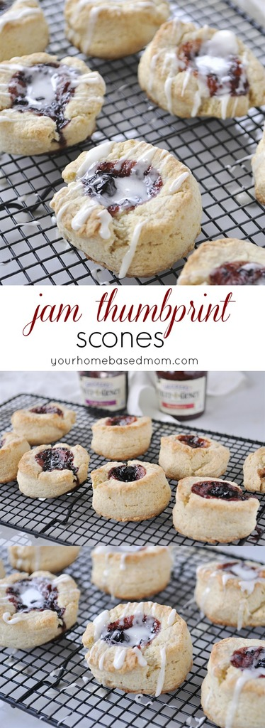 Jam Thumprint Scones