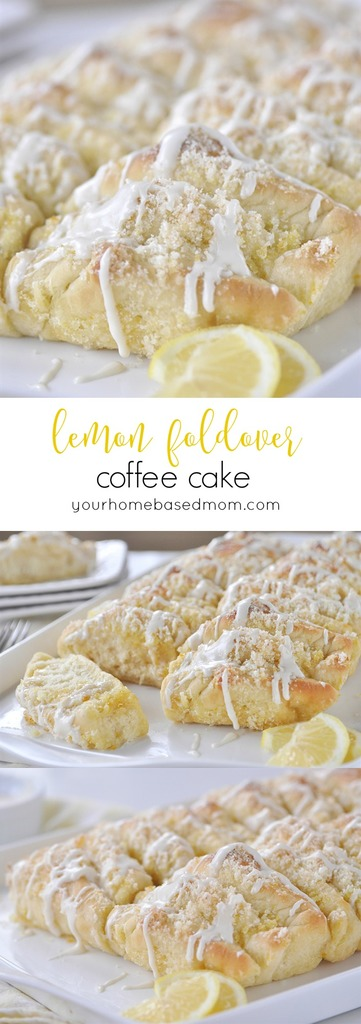 Lemon Foldover Coffee Cake