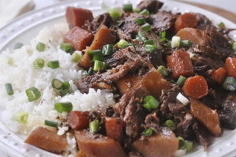 Asian Pot Roast over rice