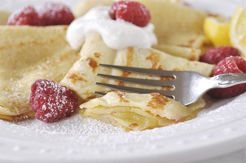 Not only are these Swedish Lemon Pancakes delicious but they are oh so pretty too!