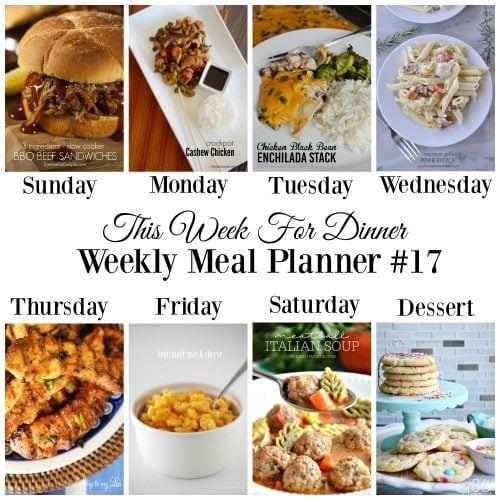 This Week for Dinner}Weekly Meal Plan #17