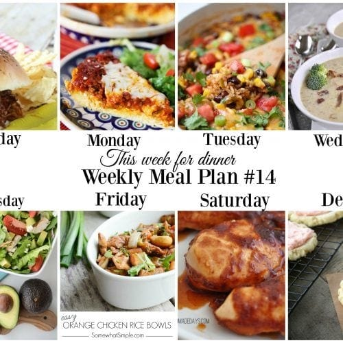 This week for dinner}Meal Plan #14