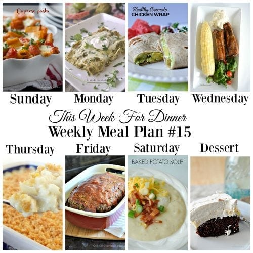 This Week for Dinner}Weekly Meal Plan #15