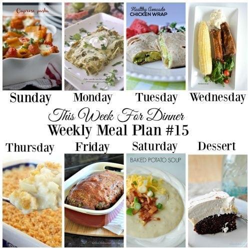 This Week for Dinner}Weekly Meal Plan #15