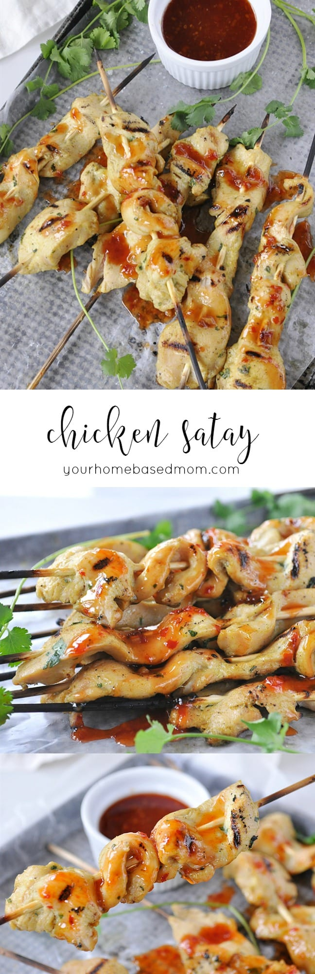 Chicken Satay is a fun and easy appetizer to make and eat @yourhomebasedmom.com