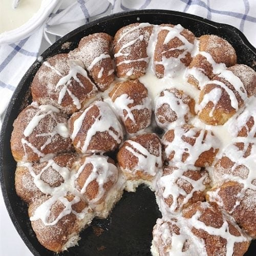 Cinnamon Roll Pull Aparts - the quickest and easiest cinnamon rolls you will ever make