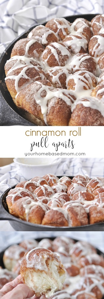 Cinnamon Roll Pull aparts - the best and easiest!