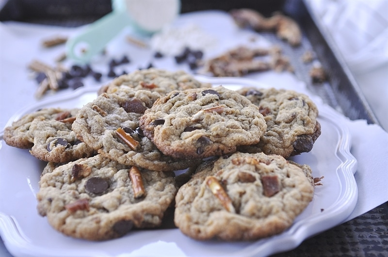 Elvis Cookies}Banana, Chocolate, Pretzel & Bacon