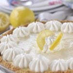 Lemon Chiffon Pie - a little slice of heaven @yourhomebasedmom.com