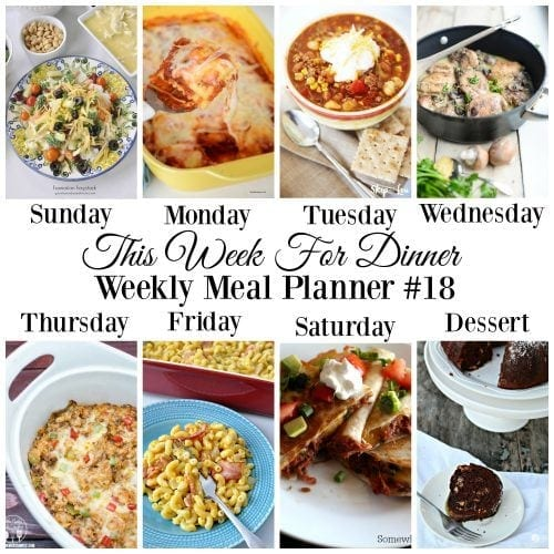 This Week For Dinner}Weekly Meal Plan #18