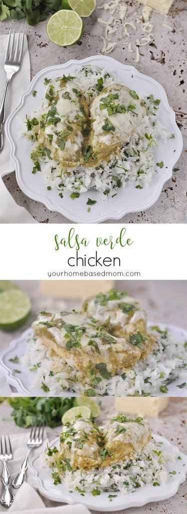 Salsa Verde Chicken with only 4 Ingredients