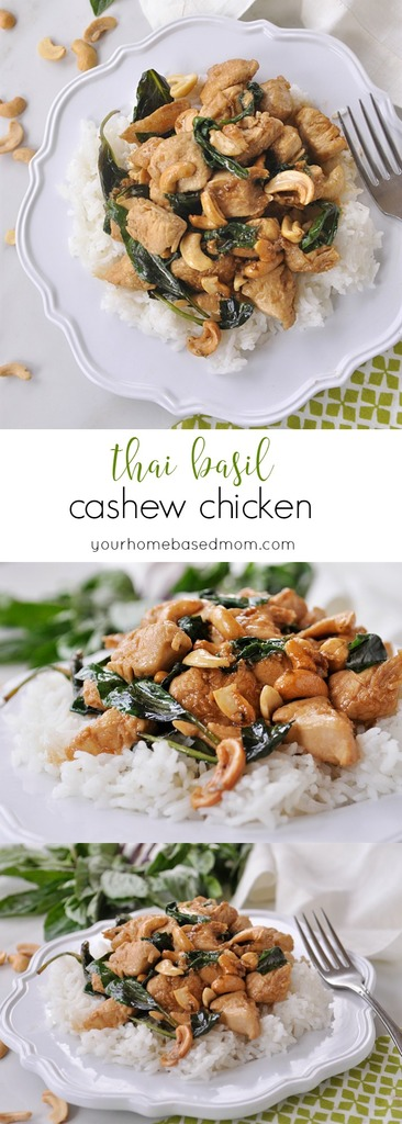 Thai Basil Cashew Chicken for a delicious meal.,
