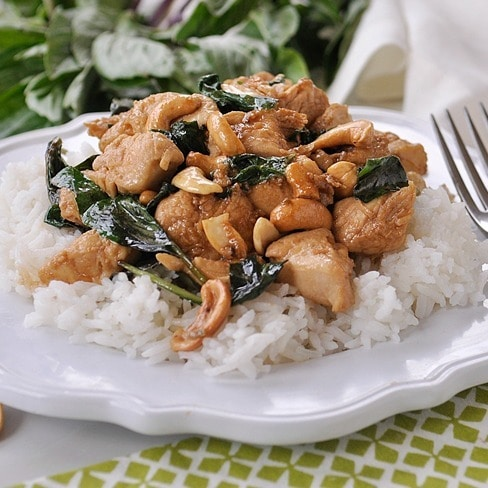 Thai Basil Cashew Chicken
