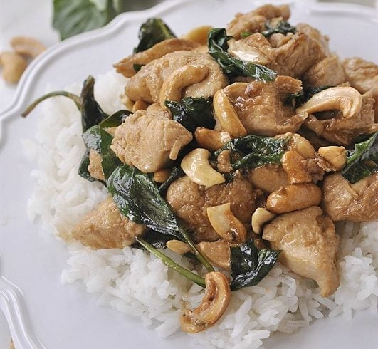 Thai Basil Chicken with Cashews