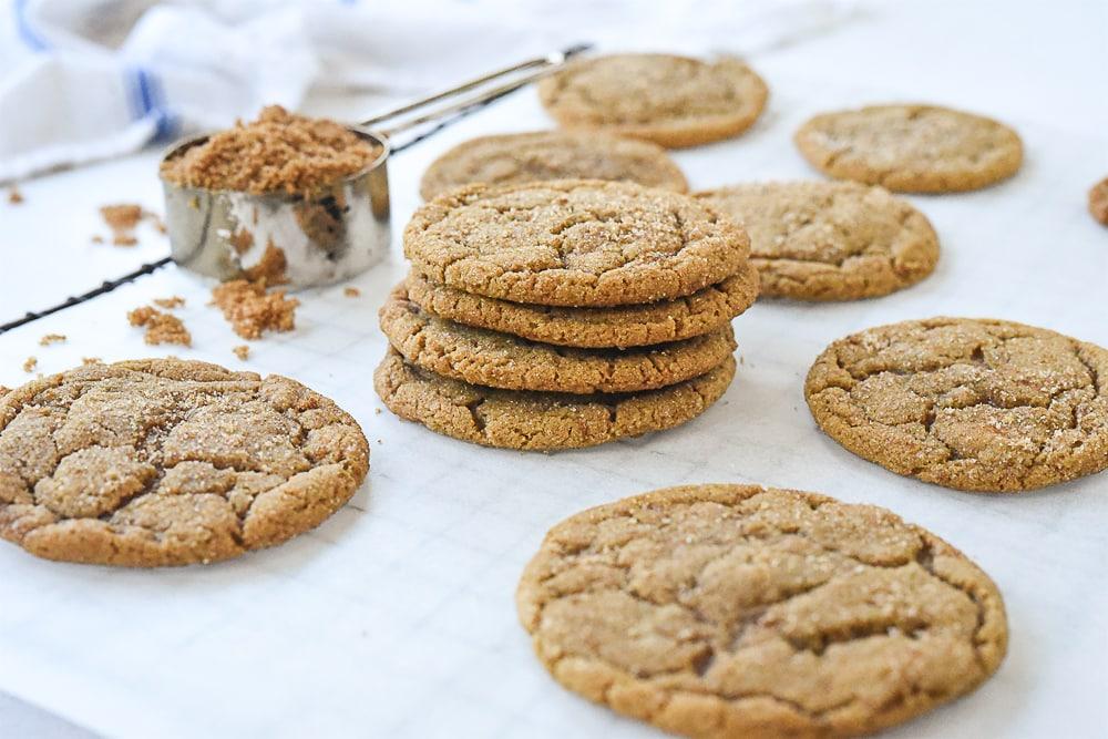 stack of brown sugar cookies