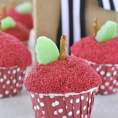 Apple Cupcakes for Teacher Appreciation