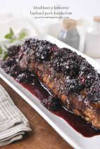 Blackberry Balsamic Herbed Pork Tenderloin