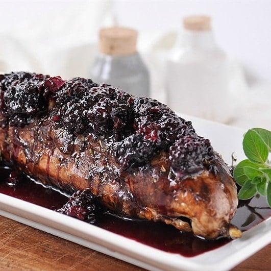 Herbed Pork Tenderloin: Blackberry Balsamic Herbed Pork Tenderloin