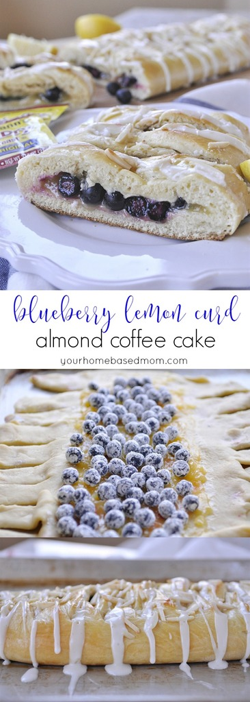 Blueberry Lemon Curd Almond Coffee Cake