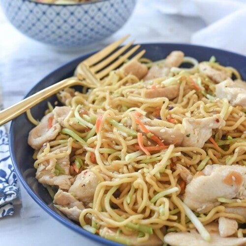 One Pan Chicken Yakisoba