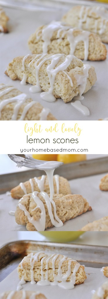 Light and Lovely Lemon Scones from yourhomebasedmom.com