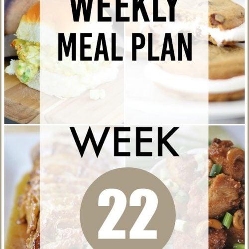 This Week for Dinner}Weekly Meal Plan #22