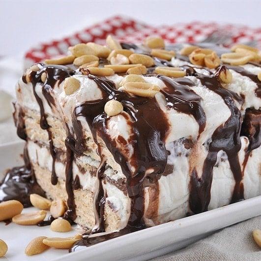 Nutty Bar Ice Cream Cake