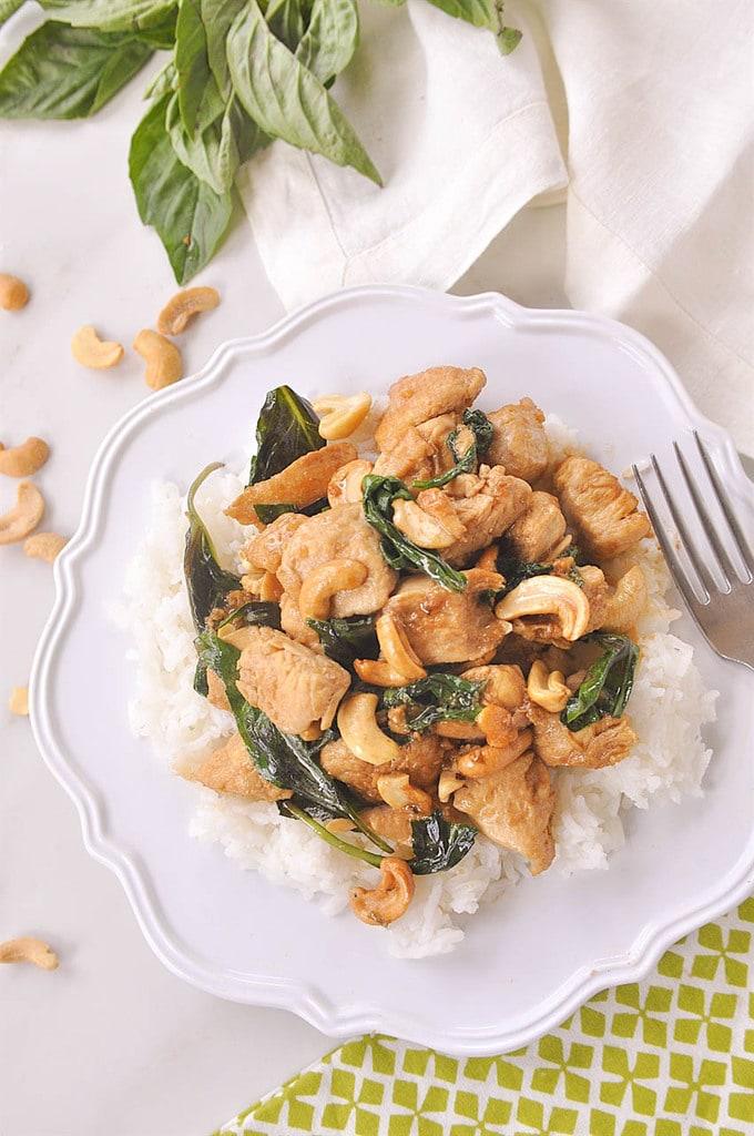 Thai Cashew Chicken and rice