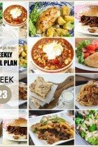 This Week for Dinner}Weekly Meal Plan #23