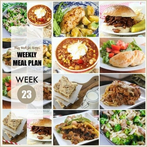 This Week for Dinner}Weekly Meal Plan #23