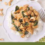 thai basil chicken with cashews - c