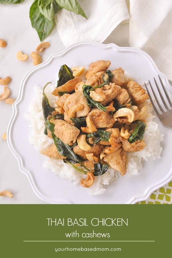 Thai Cashew Chickenis an easy week night dinner idea. The Thai Basil adds some amazing flavor.