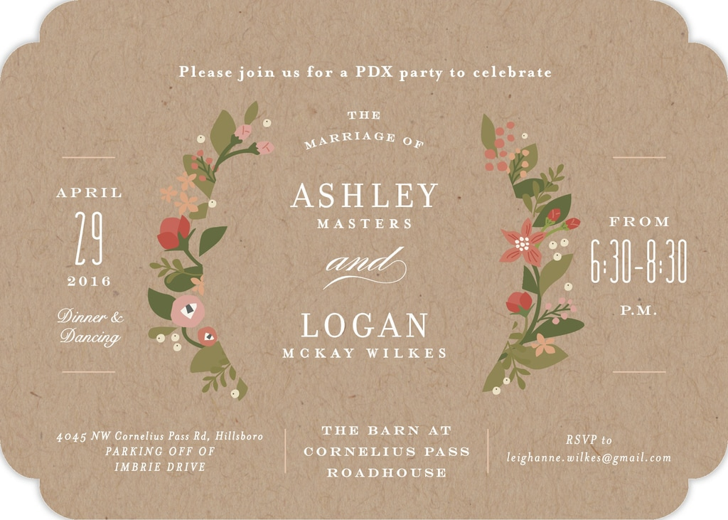 Wedding Invite from minted