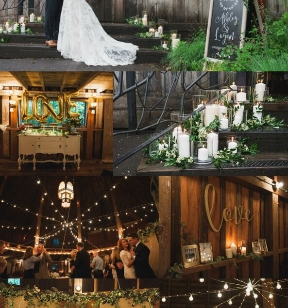 A Barn Wedding - turn a barn into a magical fairyland. More details at yourhomebasedmom.com