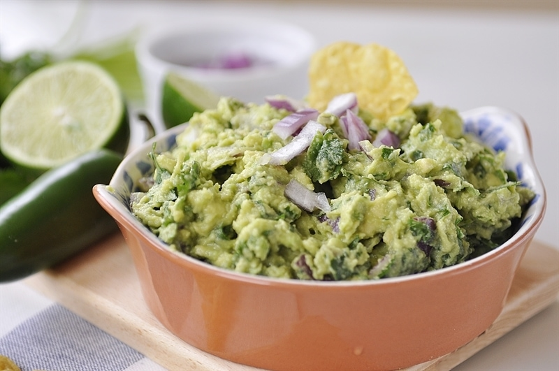 chunky chipotle guacamole in a bowl