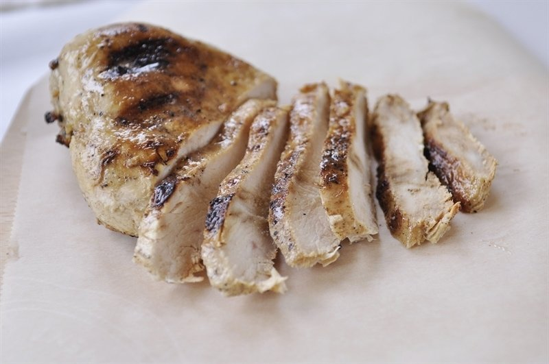 sliced grilled chicken