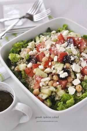Greek Quinoa Salad - your homebased mom